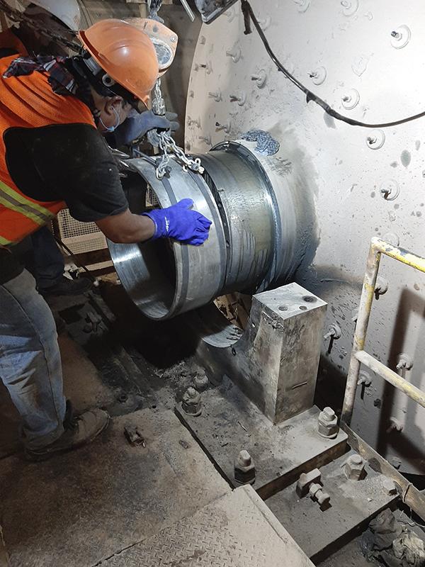 Reparación de muñon de molino